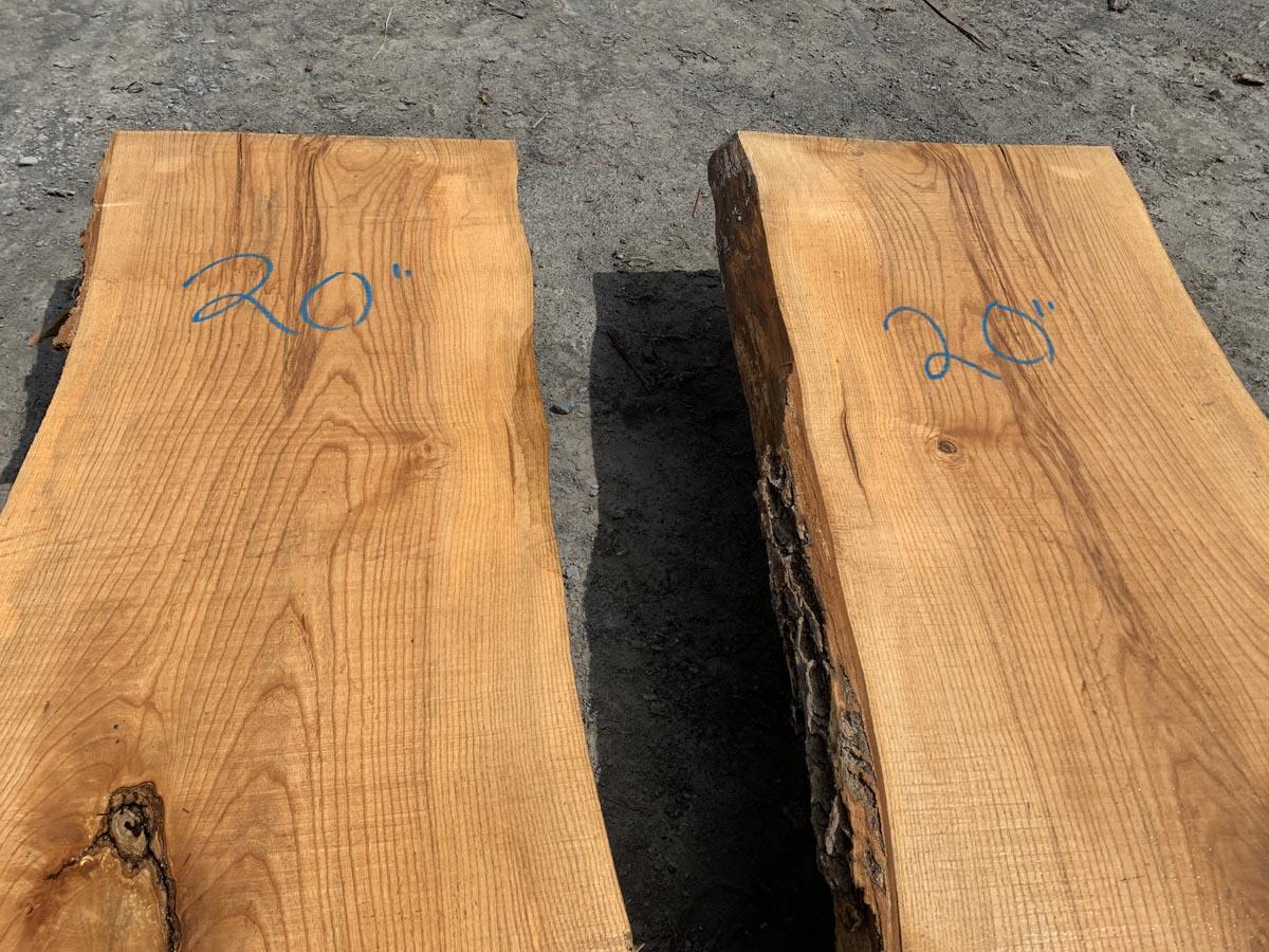 live edge ash slab, wooden tops, rustic tops, premium lumber