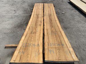 live edge ash slab, hardwood tops, wooden tops