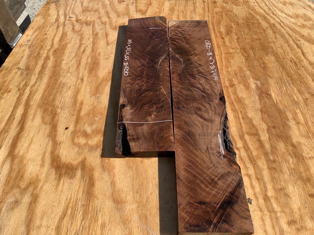 walnut crotches, door panels, drawer panels, figured walnut