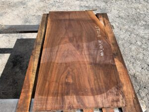 walnut side table, walnut top, unsteamed walnut