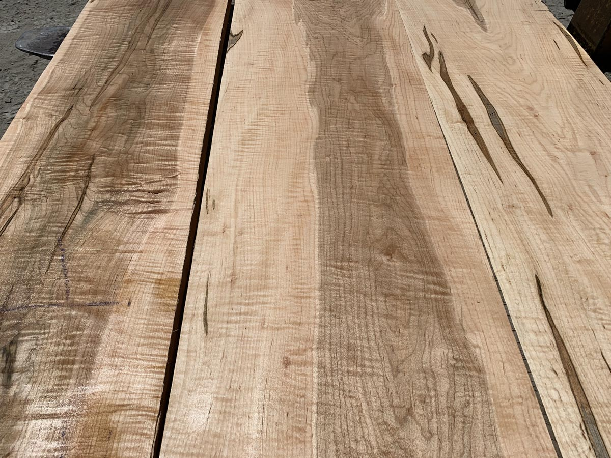 curly ambrosia tabletop, hardwood lumber, wooden tops