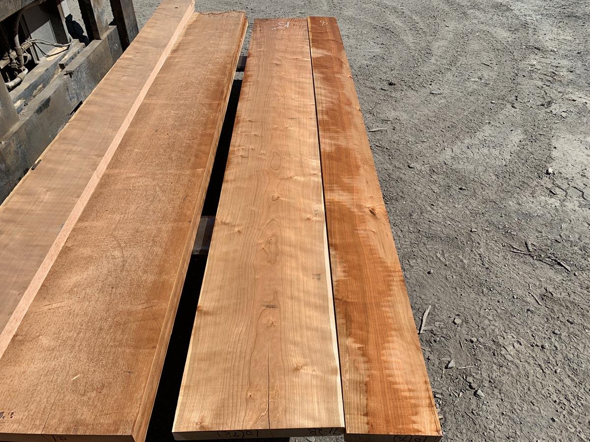 curly cherry lumber, premium lumber, high quality hardwood