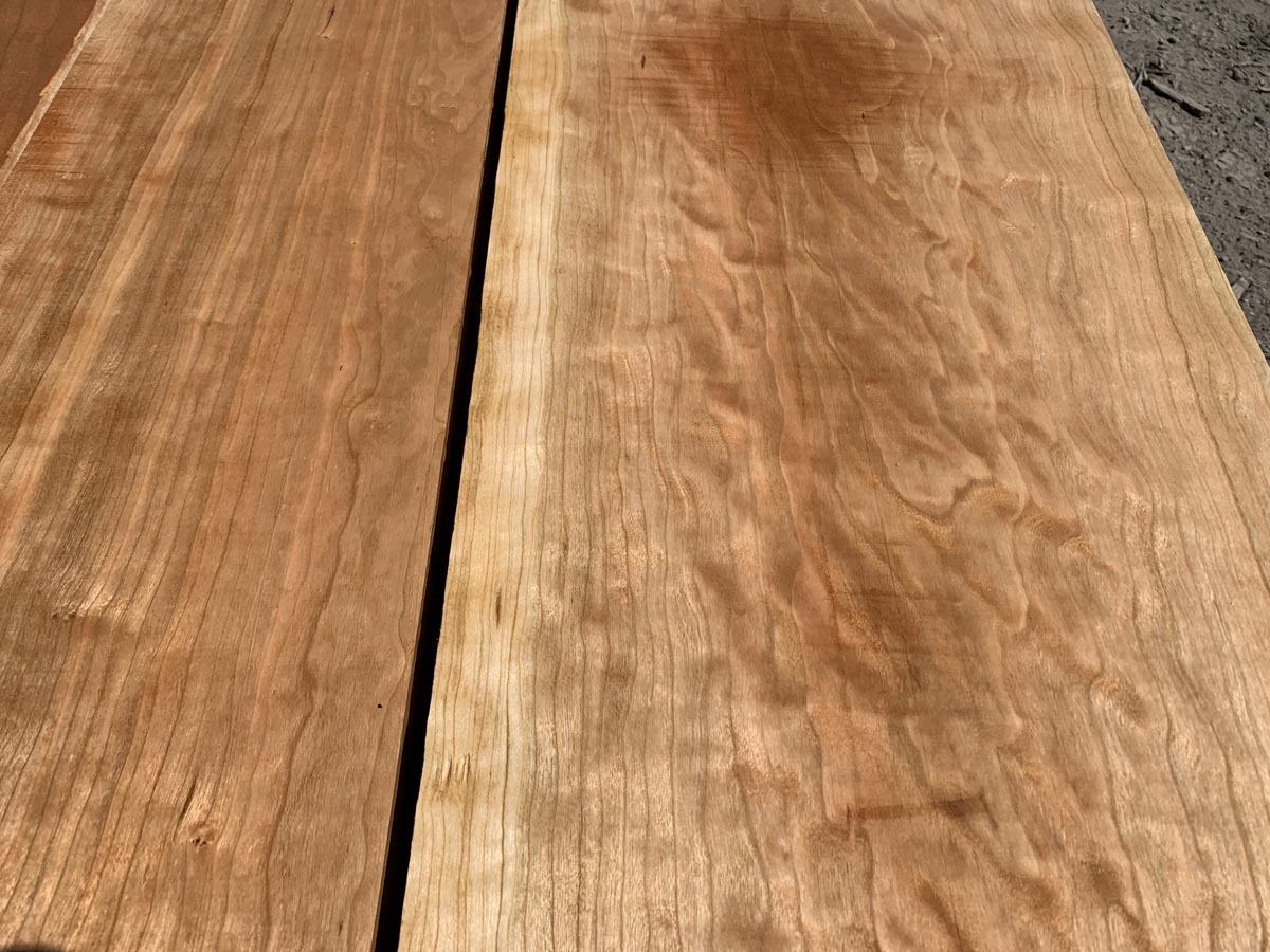 curly cherry lumber, premium lumber, hardwood tops