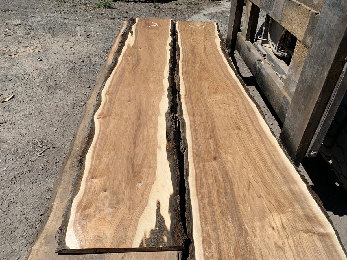live edge butternut lumber, wooden tops, hardwood lumber