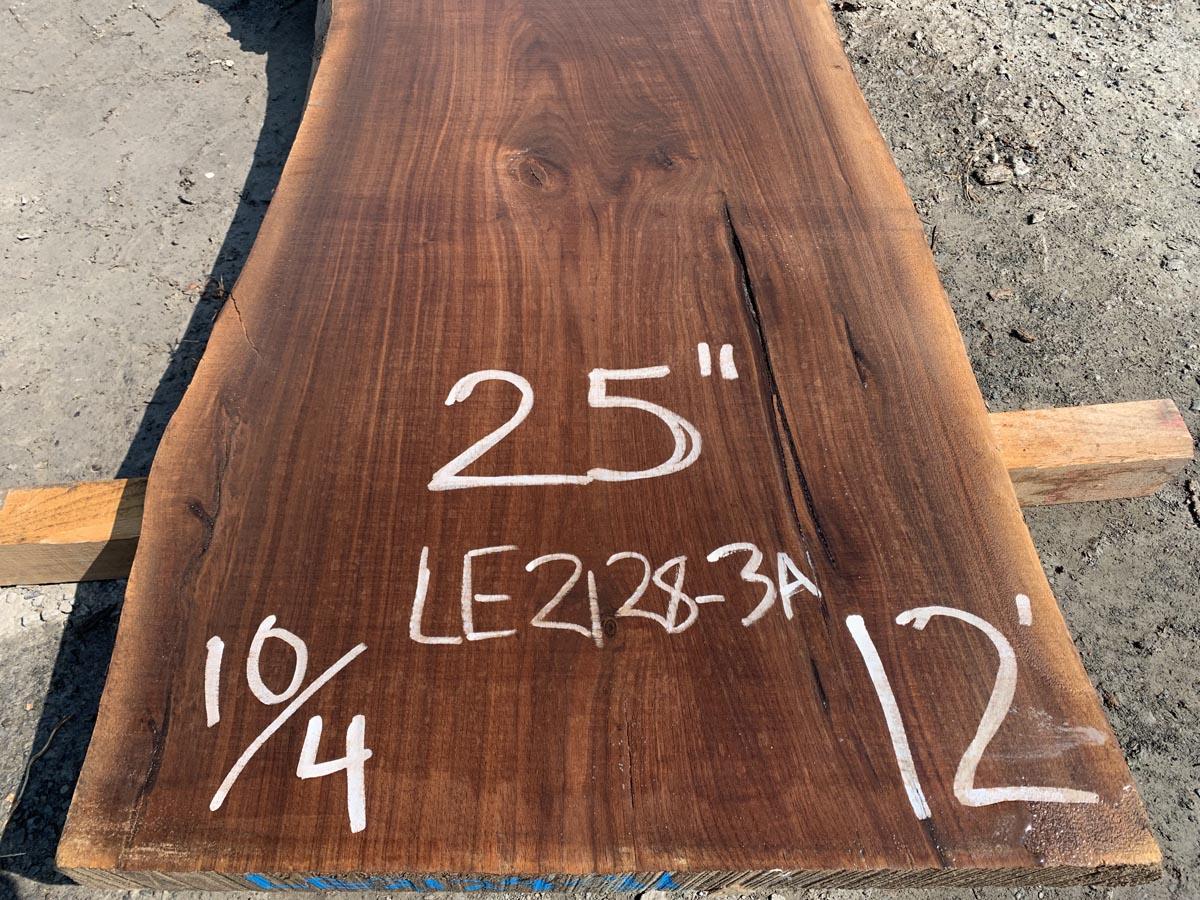 live edge walnut slab, high quality lumber, unsteamed walnut