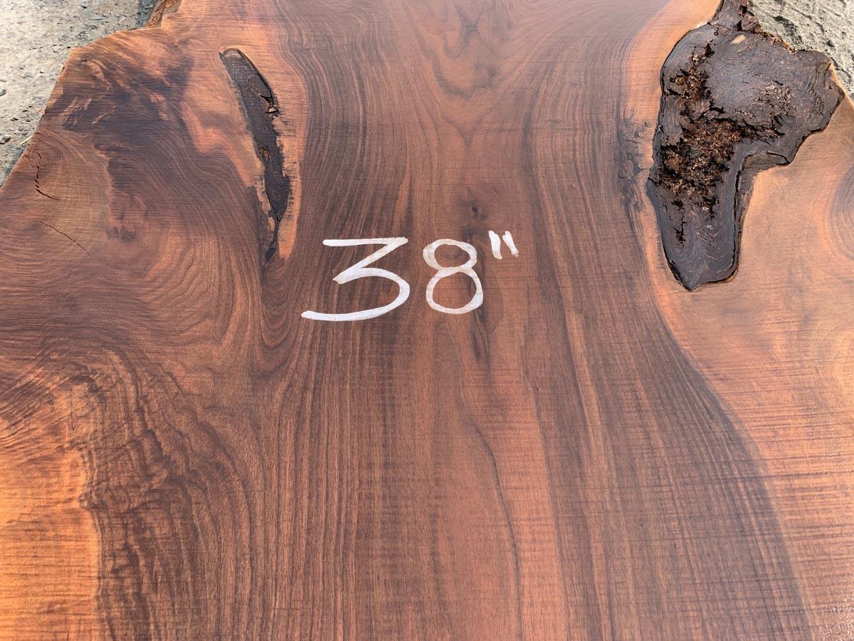live edge walnut slab, high quality hardwood, kiln dried lumber