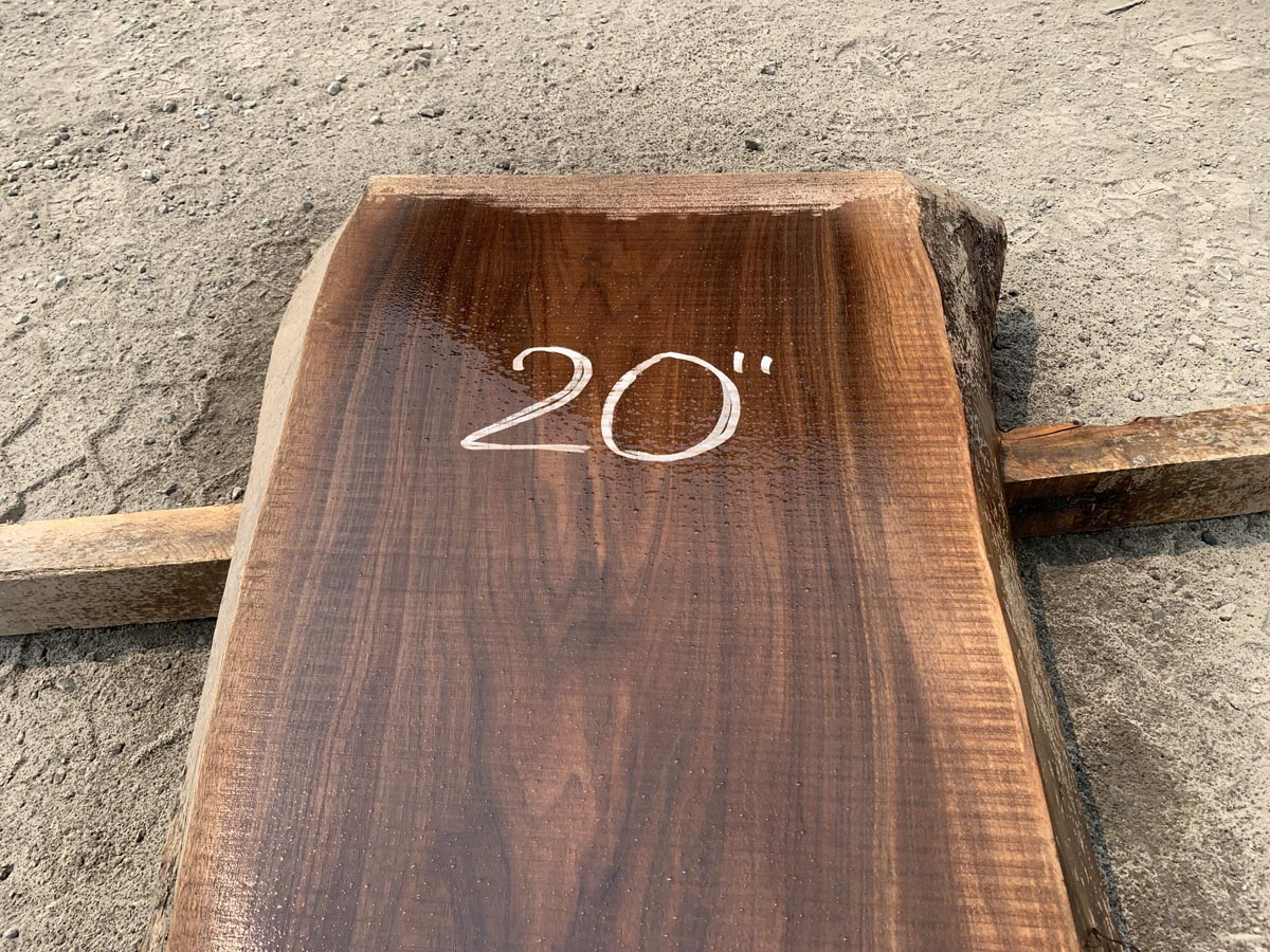 live edge walnut slab, hardwood lumber, unsteamed walnut