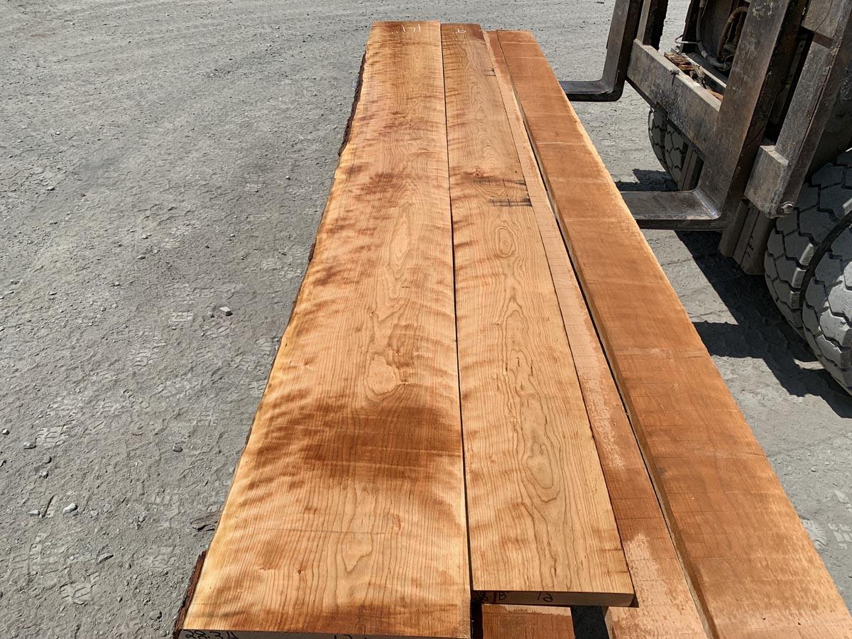 curly cherry lumber, hardwood lumber, wooden tops