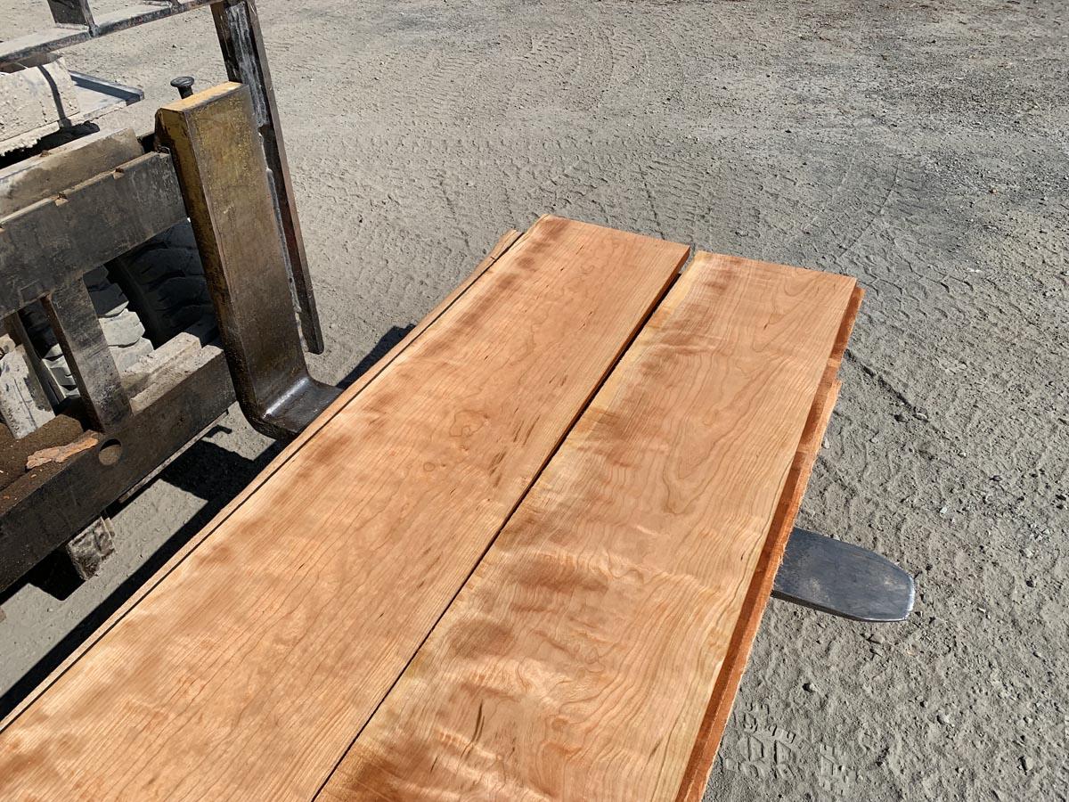 curly cherry lumber, wooden tops, hardwood lumber, premium lumber