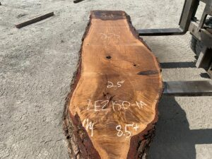 live edge white oak slab, wooden tops, rustic tops