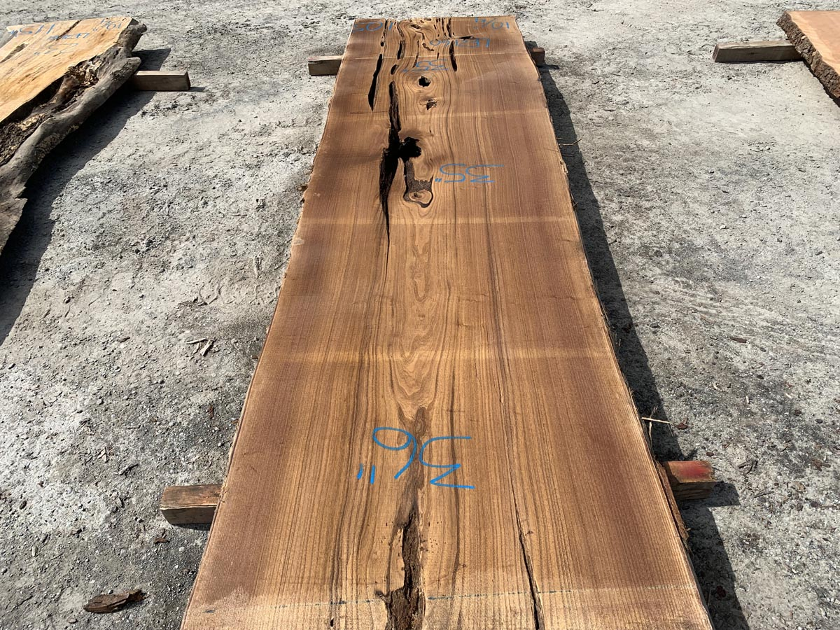 live edge catalpa slab, wooden tops, hardwood lumber