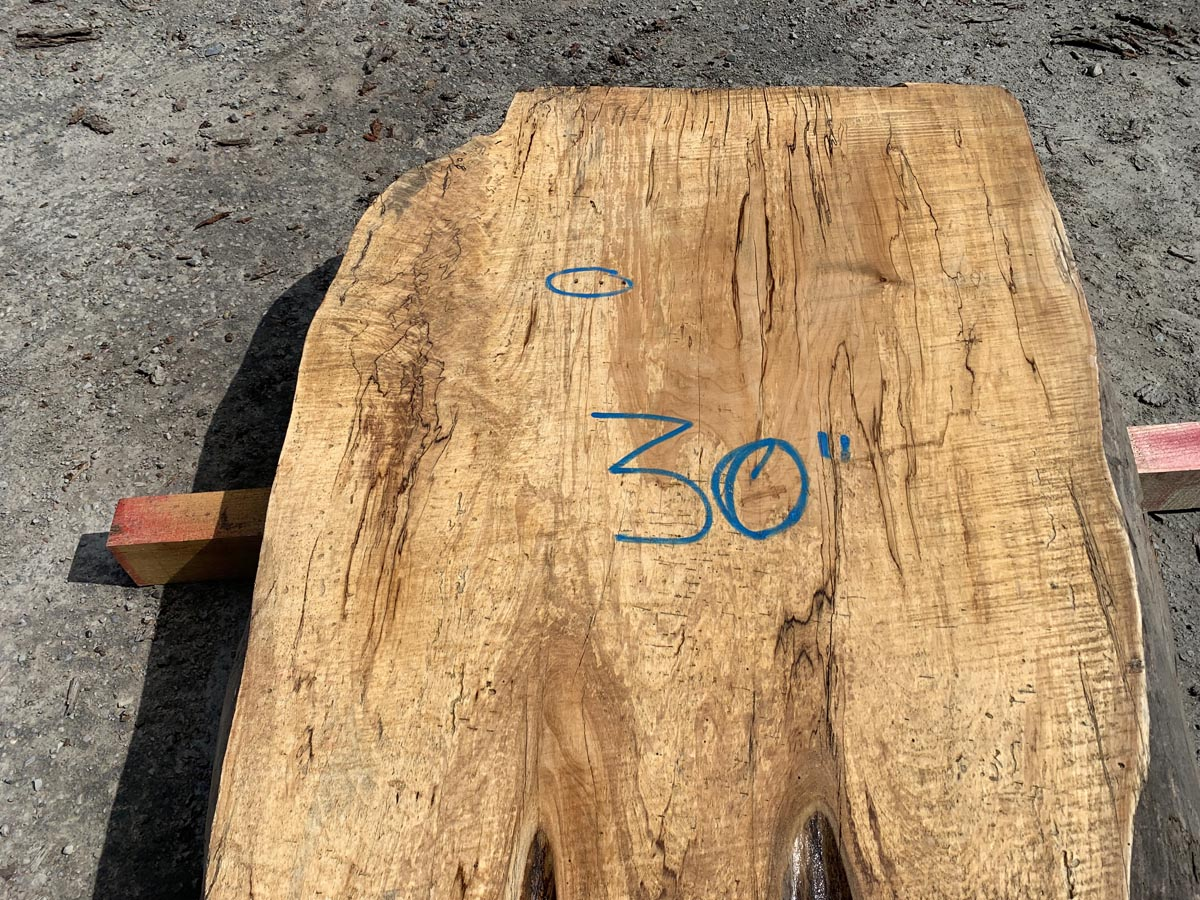 live edge spalted maple, wooden tops, rustic tabletops